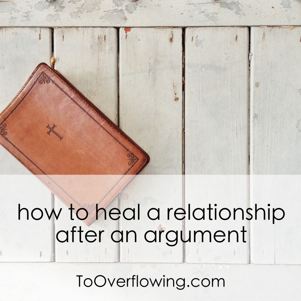 How To Heal A Relationship After A Fight
