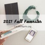 2017 Inspiring Fall Favorites